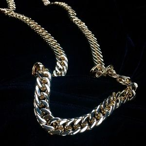 Other - DOUBLE CUBAN LINK CHAIN 18K GOLD MADE IN ITALY